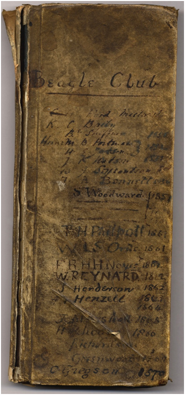 Image of University College Beagles Club account book, 1851-1876. Ref: UND/F1/E2/B1.